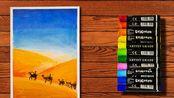 沙漠骆驼,每天一幅油彩画作品(第3天)