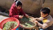 江西吉安农村,一种叫水灵的野草做的米粿,咸香软糯,你们吃过吗