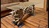 实木制作家具,保留最原始的样子,低调奢华有内涵