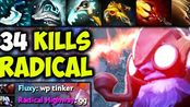 RadicaL [Tinker] - Almost 1vs9 Even His Enemy Knows He Is The Best - Epic Game
