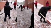 黑龙江鹤岗市大雪,今年冬天的初雪