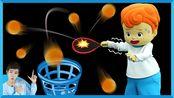 迎世界杯趣味竞技之用网球拍运乒乓球   凯文和游戏 KevinAndPlay