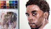 【水彩】我的水彩日常系列 如何使用水彩来把黑豹的帅气刻画出来