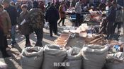 黑龙江鹤岗市,周末有个大集,人们不惧降温,逛集市热情不减!