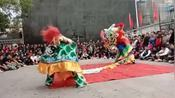 广东汕尾捷胜镇农村传统舞狮、杂技表演