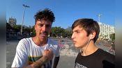 巴西滑板网红Diego Guerra和Luan爷玩S.K.A.T.E被虐开了花~