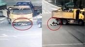 监拍:浙江女子骑车闯红灯逆行遭货车拖行翻滚数圈 被判全责