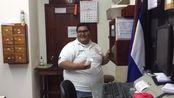 《从南极跑到北极》第206天,跑量604公里,用了6小时,从尼加拉瓜过境洪都拉斯,胖子是洪都拉斯办事员