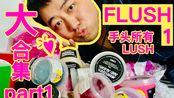 【Funsy方西】FLUSH 1 手头全部LUSH超详细分享(第1部分)shower jelly沐浴啫喱/FUN奇趣泡泡皂/shower gel沐浴露