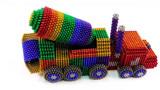 成人欢乐解压磁力珠:制作混凝土搅拌汽车,彩虹般的颜色!