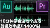 【南道】10分钟学会这7个技巧,剪辑效率提升1400%!【pr,au教程】