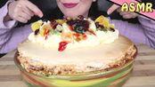 【saltedcaramel】助眠:美味的失败的巴甫洛娃,上面点缀着奶油、果酱和水果 吃东西的声音 低语(2019年12月27日0时31分)