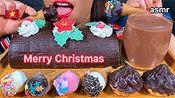 【stella】吃巧克力卷蛋糕,洒上雪糕筒和巧克力糕点(2019年12月20日12时45分)