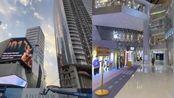 华中第一高楼被曝欠额停工,附属商场隔壁起业,居民:不看好