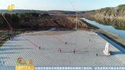 [早安山东]数只百米潍坊风筝 在漠河北极村上空放飞