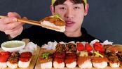 新【Bonggil】寿司宴~大豆虾酱油+三文鱼+三文鱼酱油+ 酱油虾+三文鱼香辣寿司