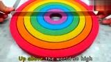 色彩启蒙:太空沙制作彩虹与小星星 一起动手学起来吧