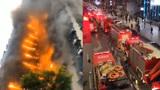 """重庆加州花园大火!几十辆消防车小区外被违停堵成""""长龙"""""""