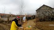 红雨油画家 北京到上海骑行油画写生 日照市东港区西湖镇南乐子村