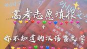 高考 高考志愿填报+你不知道的汉语言文学