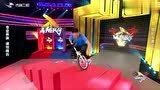 高手在民间:达人骑独轮车跳上2米高台,这么高是咋跳上去的呢?