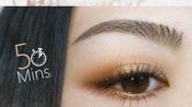 【中字 Hitomi】简单眼妆#1 三色立体渐变的眼妆画法(橘&棕)使用TATI眼影盘
