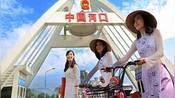 越南美女在中越边境街头摆摊,但贩卖的东西,令中国男性觉得荒唐