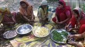 印度妇女为全村人制作丰盛大餐 咖喱鲶鱼 嗯 这很印度