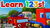 【Toddler Fun Learning】Learn Numbers and Colors with Buses and Trucks