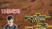 17shou高分局,M4+mini,4排13杀吃鸡,2月20日
