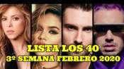 [Los 40]西语 | 西班牙Los 40 音乐排行榜(2020年2月第3周)#Listas Música