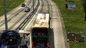 ETS2 欧洲卡车模拟2 新G7美女大巴车 辽宁沈阳-山东济南 中国地图 娱乐 T300RS