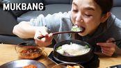 2019.10.31 - 爽快吃播Hamzy(智馨)- 牛骨汤&凉飕飕的时候汤饭最棒!搭配萝卜块!!