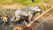 帝哥历险记:孤岛求生07,带领战狼二哈狩猎,组建原始部落