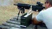 突击步枪连续射击22lr小口径弹,扣住扳机就不松手