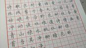 【硬笔书法】给学生写个范字,二年级下册词语(上)