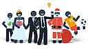 MG二维卡通象形人物角色动画元素包 公司产品介绍解说商业动画制作工具ae模板