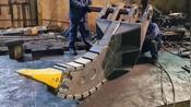 大型挖机挖斗制作过程,价格高是有原因的