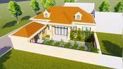 山西长子县贾宅定制设计,一层18X18米欧式风格,轻奢大气!