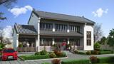 9×17米农村宅基地建新中式别墅,白墙黛瓦古韵悠然