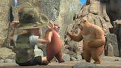 熊出没:经过穿山甲帮忙,光头强找到了怪物,原来是天才威啊