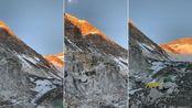 珠峰攀登第四十九天,海拔6500米,非常美丽的日照金山。见者吉祥