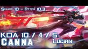 [LOL第一视角]T1 Canna LUCIAN vs VLADIMIR Top - Patch 10.3 KR Ranked
