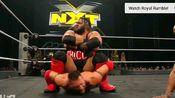 NXT圣诞大战多米尼克·戴伽科维锁喉抛摔300多斤的布朗森·里德