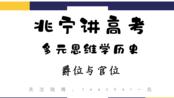 【兆宁讲高考】多元思维学历史·爵位与官位