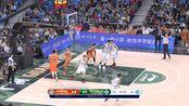 CBA的实力慢慢展现 姜伟泽底角三分一句追平打停对手