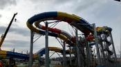 威海市区,正在建设的大型水上乐园,初见端倪