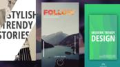 12个创意美丽的Instagram的故事Pr模板 - macdown.com