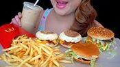 【pink】麦当劳早餐三明治,巨无霸,鸡肉汉堡炸薯条吃起来听起来很粉红(2020年2月21日23时20分)