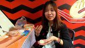 吃货妹子在广州学做灌汤包,结果老板说不能卖,最多打2分!